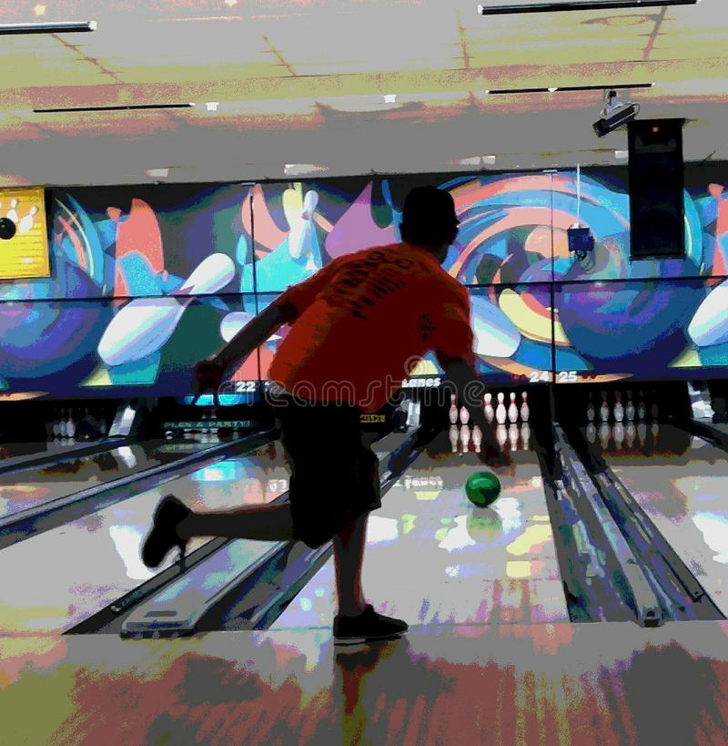 Bowling ally fun stock image