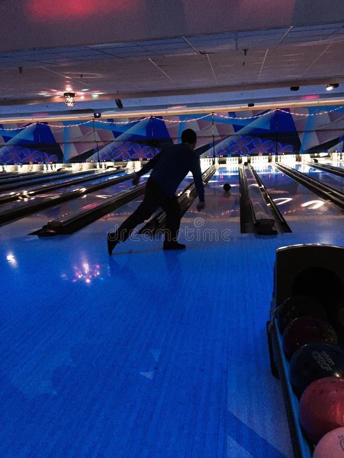 bowling atomico fotografia stock libera da diritti