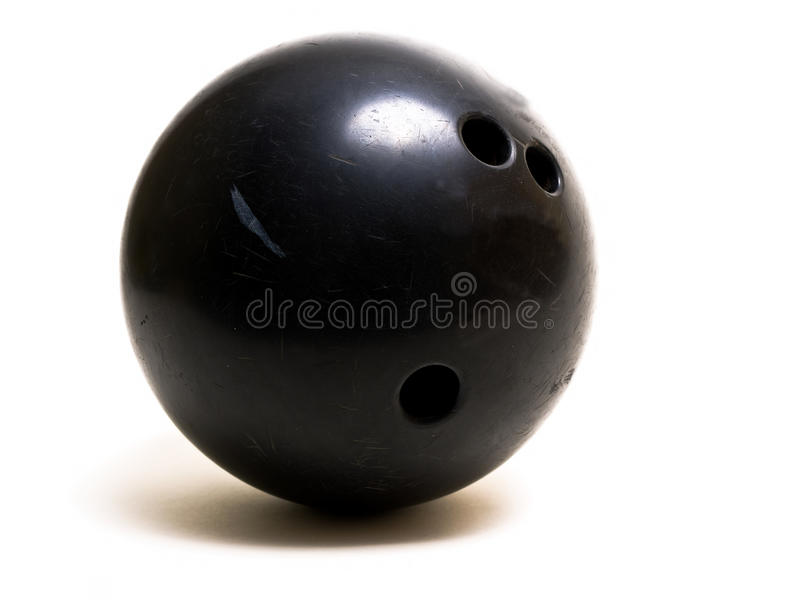Bowling Ball Black stock images