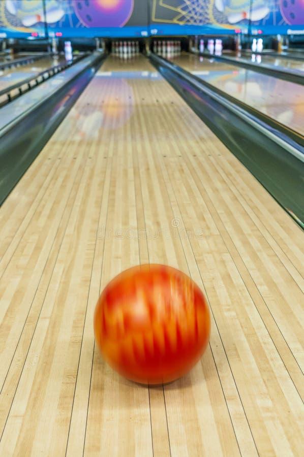 Bowling ball blur royalty free stock photos