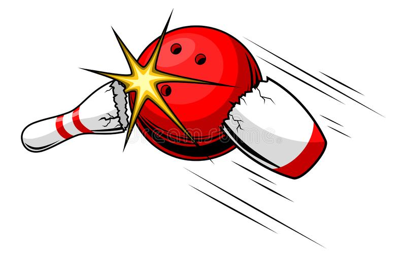 Bowling ball royalty free illustration