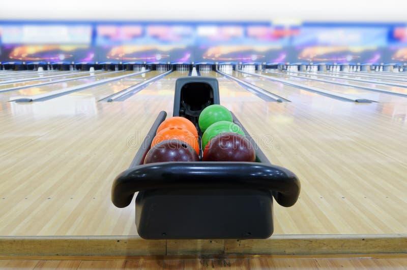 Bowling ball. Close up of bowling ball royalty free stock photos