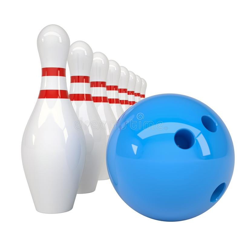 Download Bowling ball and pins stock illustration. Image of rolling - 29932397