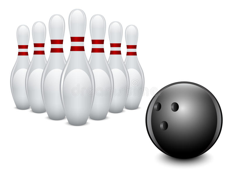 Bowling. royalty free illustration