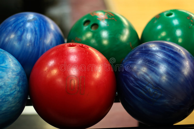 Bowling Balls royalty free stock images