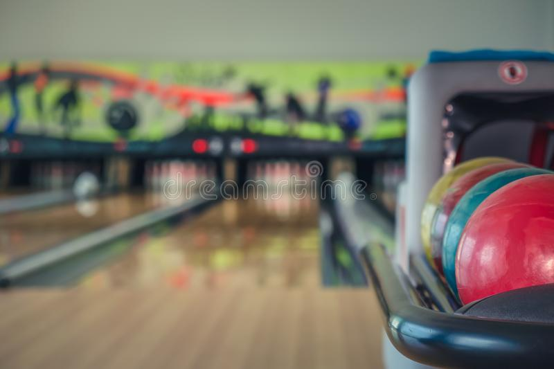 Bowling balls. Close up of bowling balls stock images