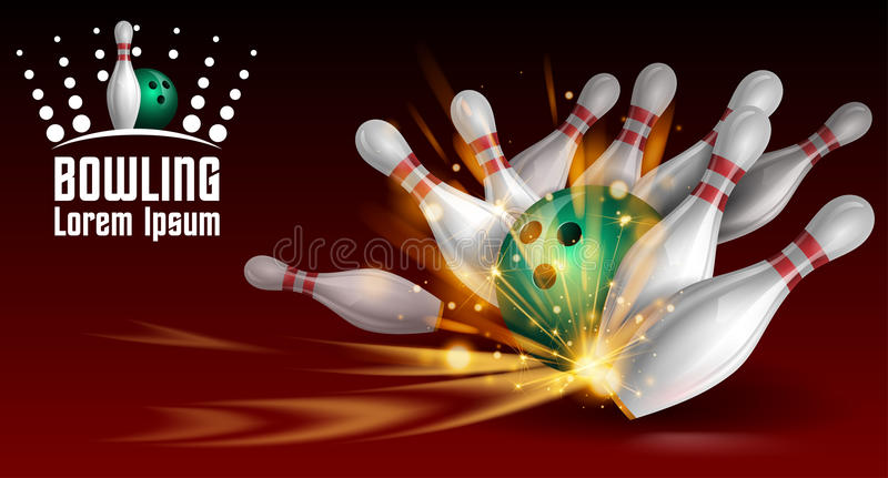 Bowling banner. Illustration in vector