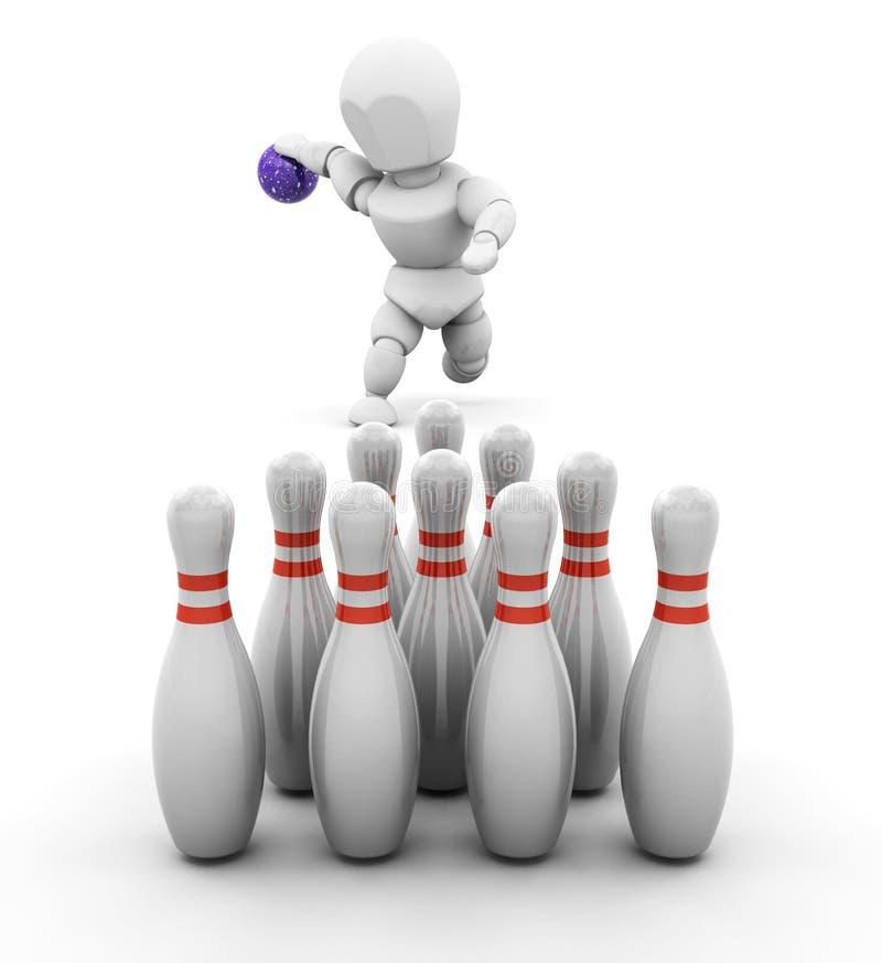 Bowling de personne illustration stock