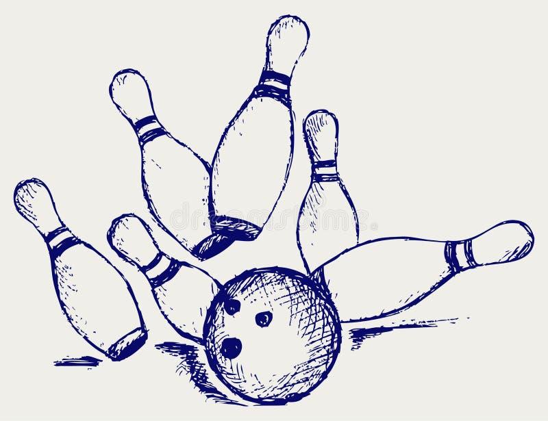 Download Bowling do esboço ilustração do vetor. Ilustração de projeto - 26513657