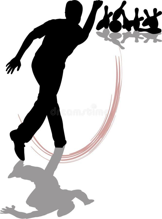Bowling do homem ilustração royalty free