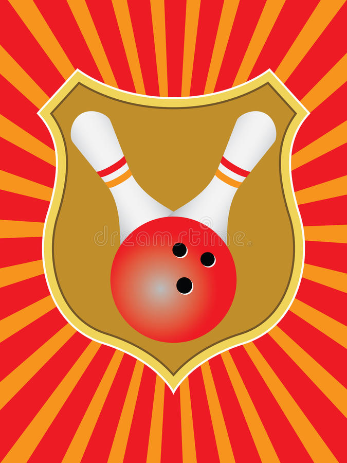 Download Bowling emblem stock vector. Image of color, background - 12574966