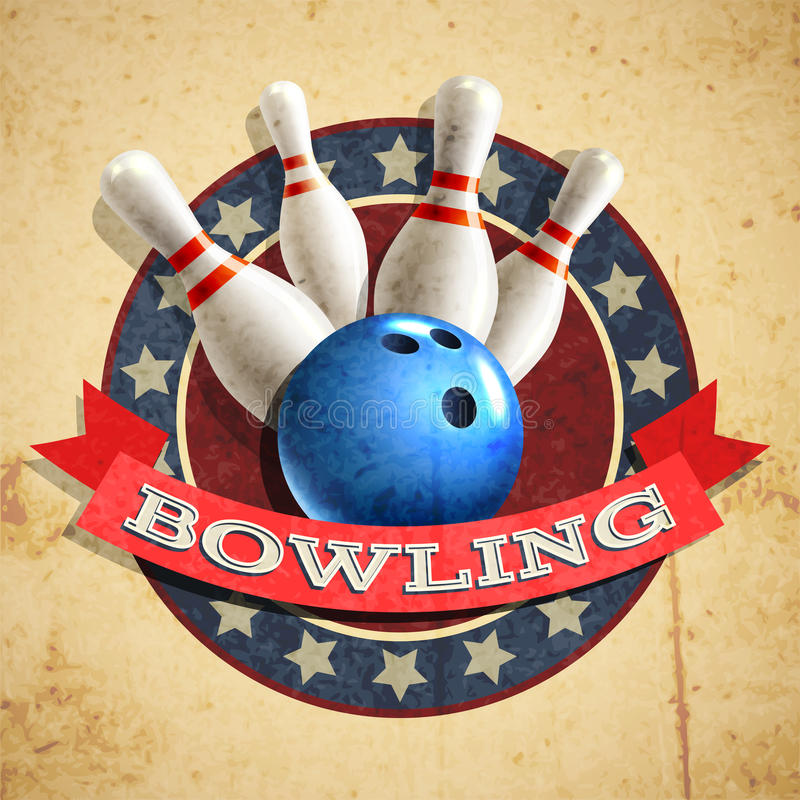 Download Bowling Emblem Background stock vector. Illustration of frame - 52588577