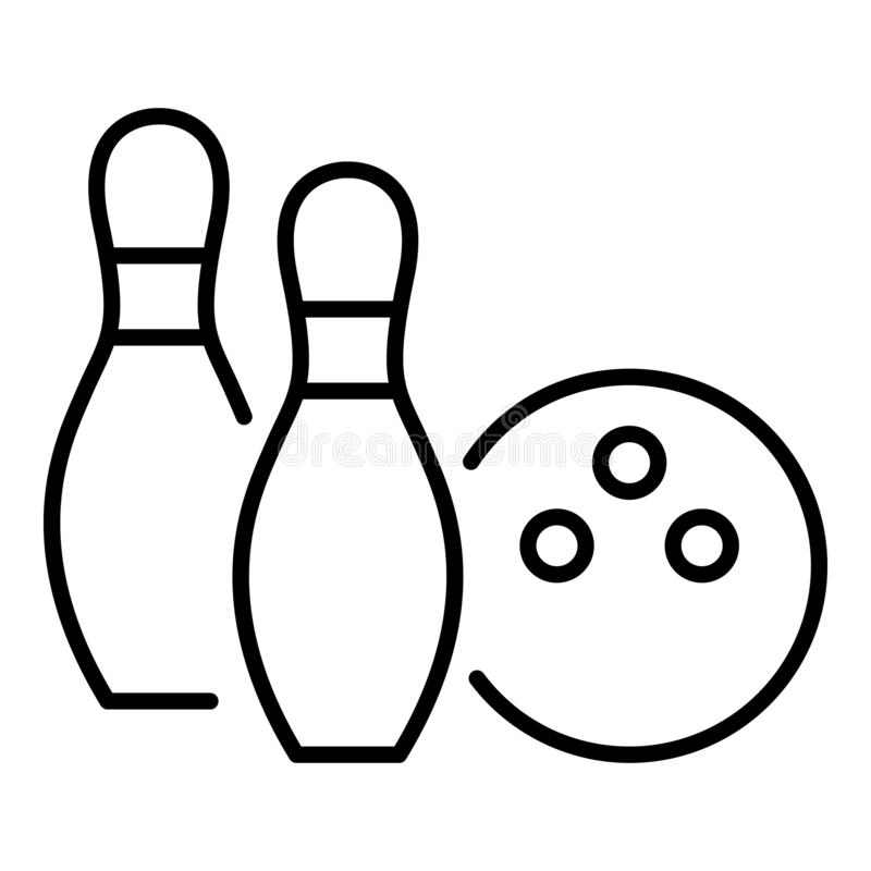 Bowling event icon, outline style vector illustration