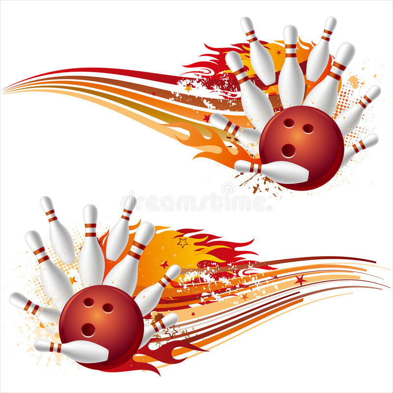 Download Bowling with flames stock vector. Image of modern, design - 15754961