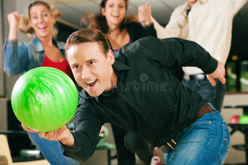 Bowling With Friends Royalty Free Stock Photos