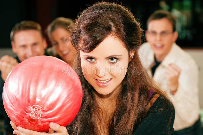 Download Bowling With Friends Stock Image - Image: 12748021