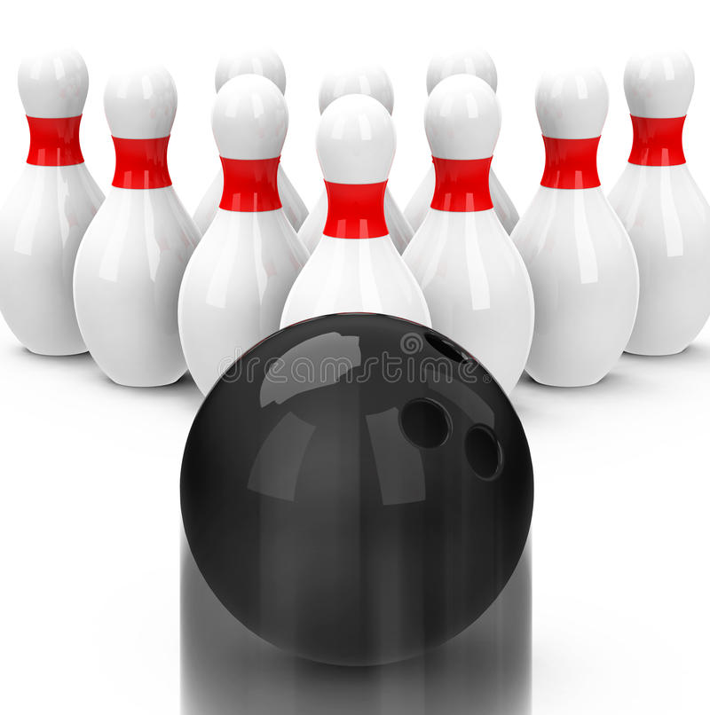 Download The bowling game stock illustration. Image of speed, accuracy - 38963390