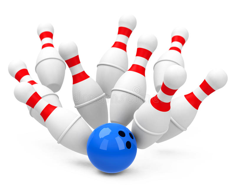 Download The bowling game stock illustration. Image of game, hobby - 38963415