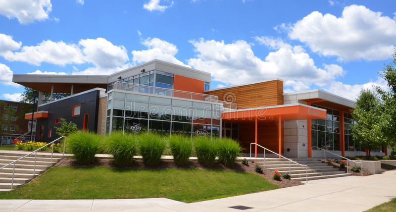 Bowling Green State University dining hall. BOWLING GREEN, OH - JUNE 25: The dining hall at Bowling Green State University in Bowling Green, Ohio, is shown on stock photo