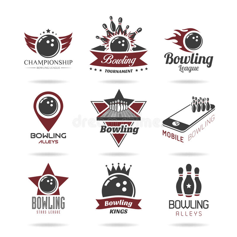 Bowling Icon Set - 2 Stock Vector
