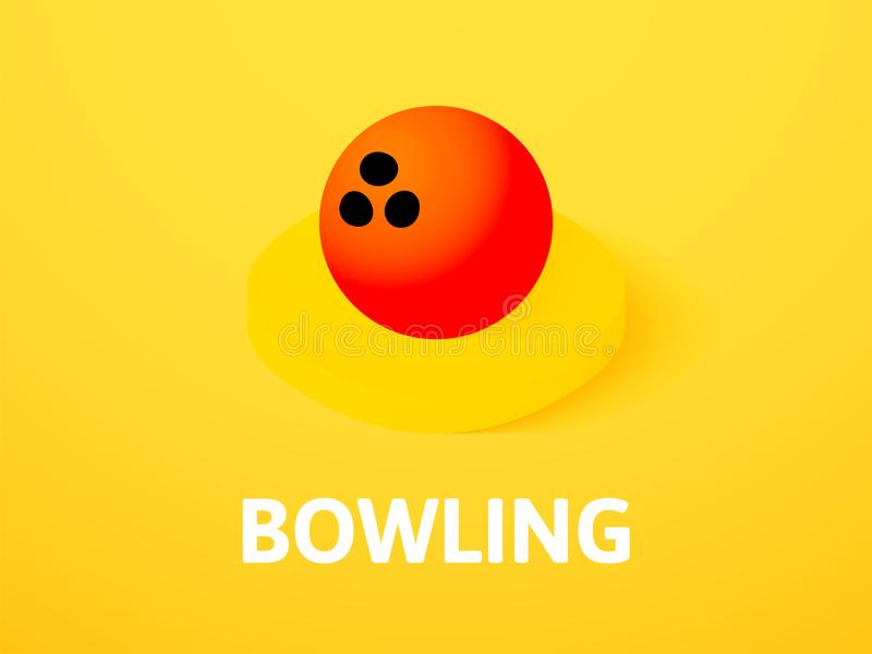 Bowling isometric icon, on color background stock illustration