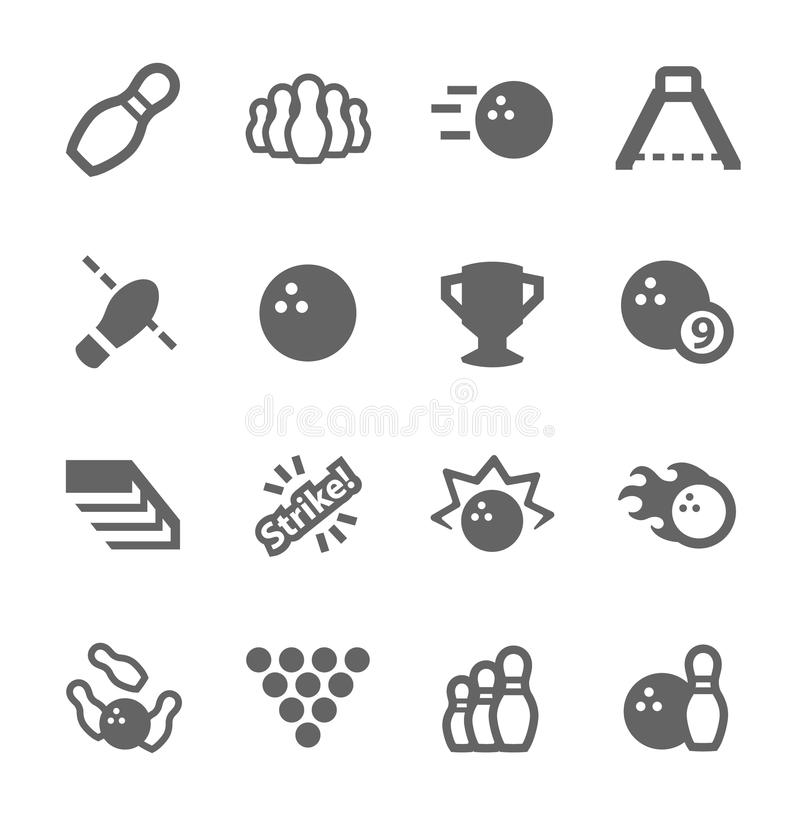 Download Bowling icons stock vector. Image of bowling, equipment - 38841744