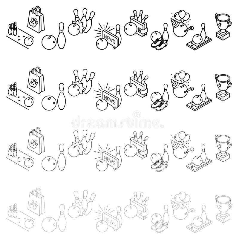 Bowling isometric icon. Vector Design vector illustration