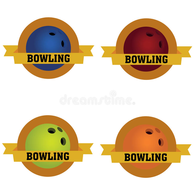 Bowling Labels Stock Photo