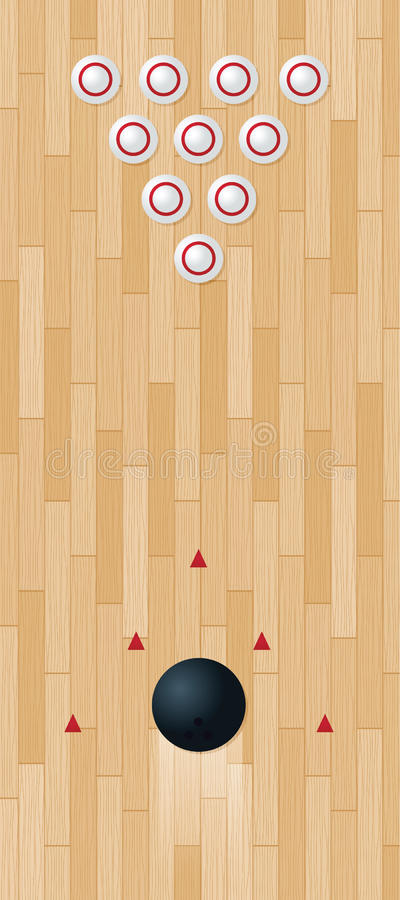 Download Bowling Lane stock vector. Illustration of pins, graphic - 20033060