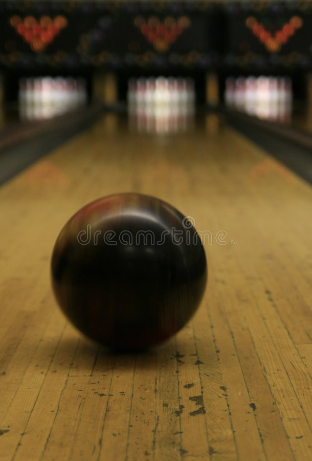 Bowling Lane - Ball in Motion 2 stock photography