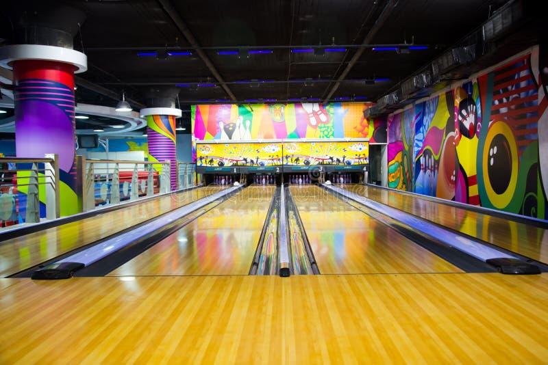 Bowling Lane. Colorful Bowling Lane - Games area stock photography