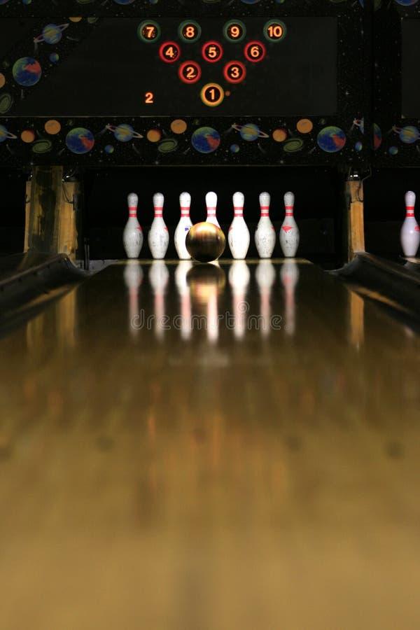 Bowling Lane - Golden Moment royalty free stock image