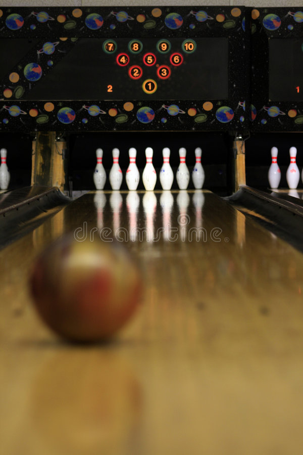 Bowling Lanes - focused! stock photos