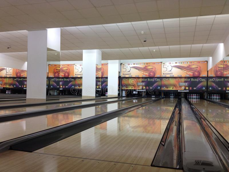 Bowling lanes royalty free stock photography