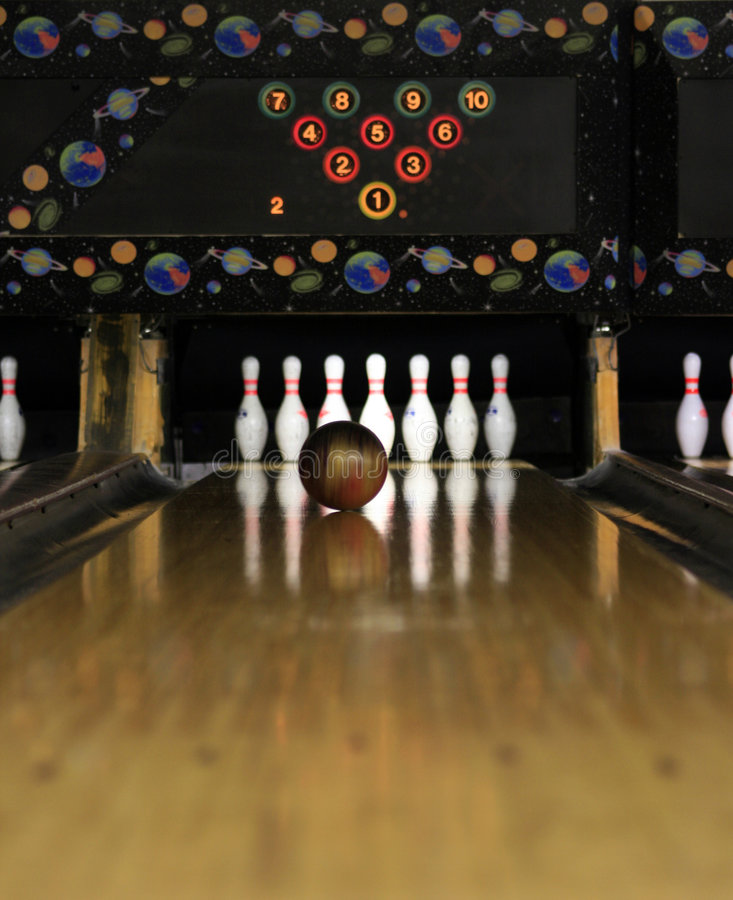 Bowling Lanes - almost there! royalty free stock image