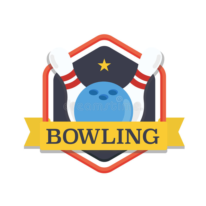 Download Bowling Logodesign Template Emblem Tournament Skittles And Ball With Ribbons