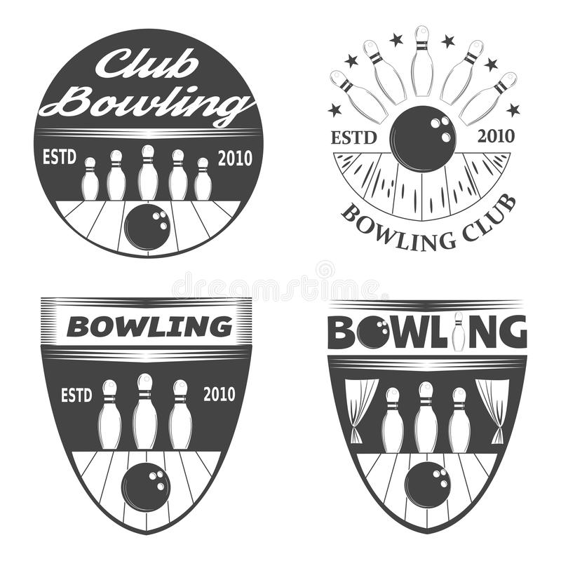 Bowling logos stock photos