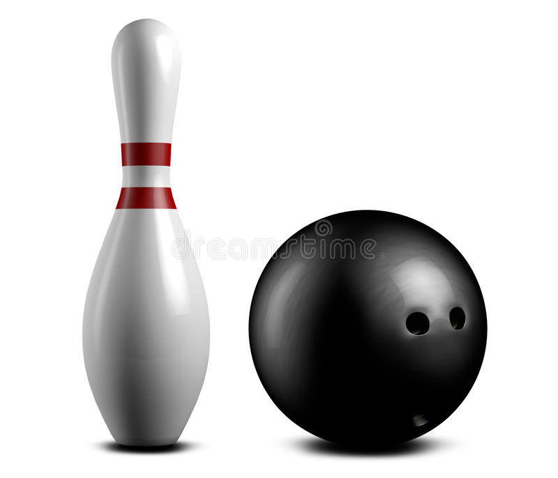 Download Bowling pin and ball stock illustration. Image of nobody - 20423881