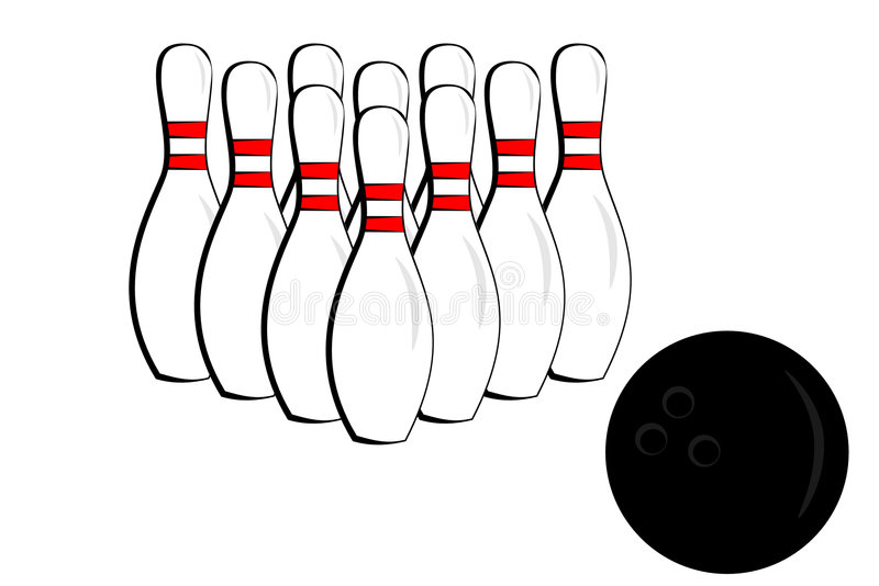 Download Bowling pin and ball stock vector. Image of lane, white - 7689747