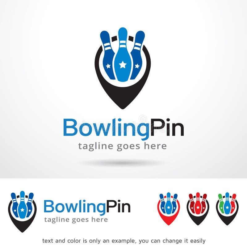 bowling pin logo template design vector stock vector illustration