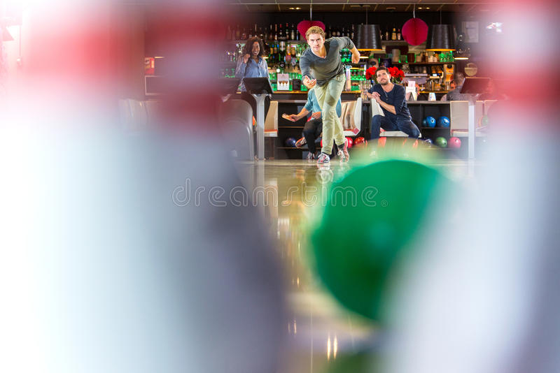 Bowling Pin point of view royalty free stock images