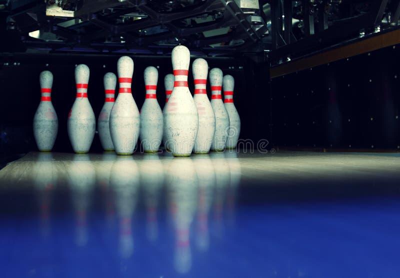 Bowling pins royalty free stock photography