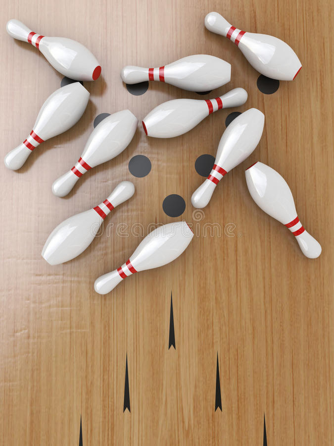 Download Bowling Pins stock illustration. Image of bowling, sports - 21694062