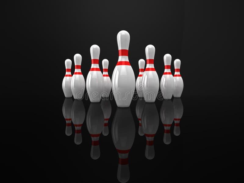 Bowling pins royalty free illustration