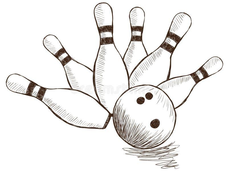 Bowling Pins And Ball Royalty Free Stock Photo