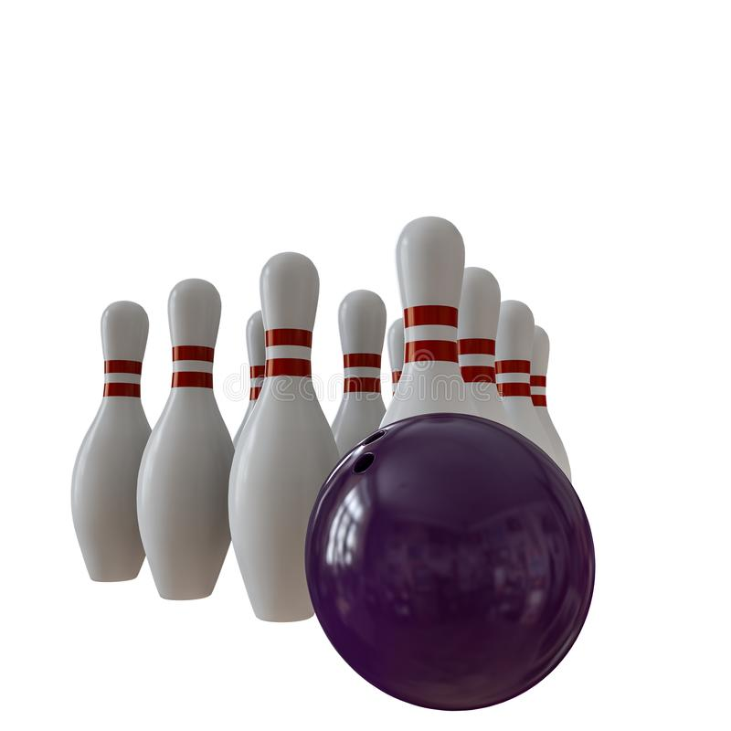 Bowling pins isolated on white vector illustration