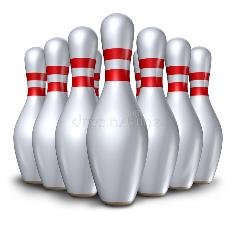 Free Bowling Pins Ten Pin Set Bowl Symbo Stock Photography - 18182442