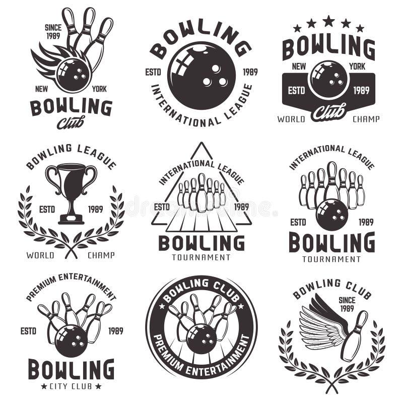 Bowling Emblems Stock Illustrations 151 Bowling Emblems