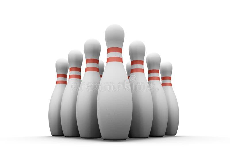 Bowling skittles royalty free illustration