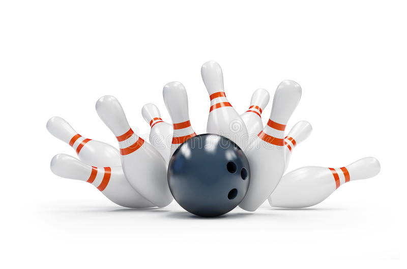 Download Bowling strike stock illustration. Illustration of spare - 18501708
